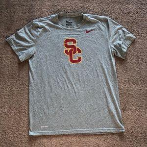 Grey USC Trojans Nike Dri-Fit T-Shirt
